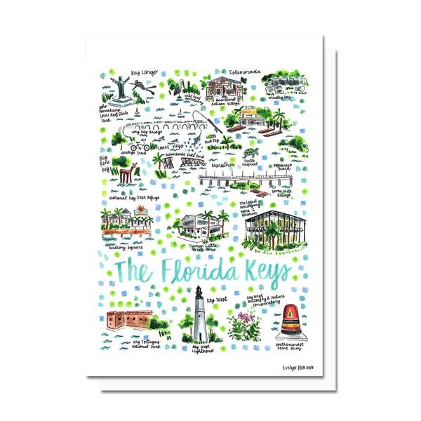 Florida Keys, FL Map Card