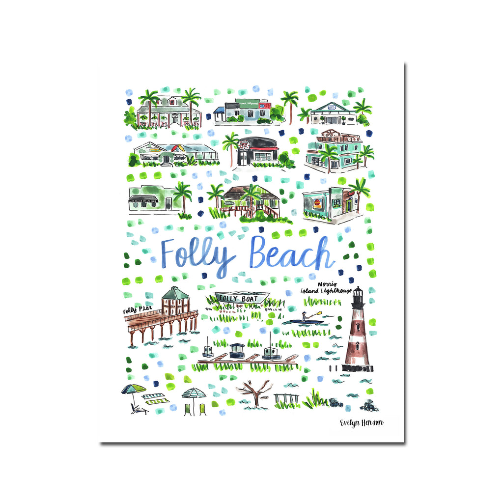 """Folly Beach, SC"" Fine Art Print"