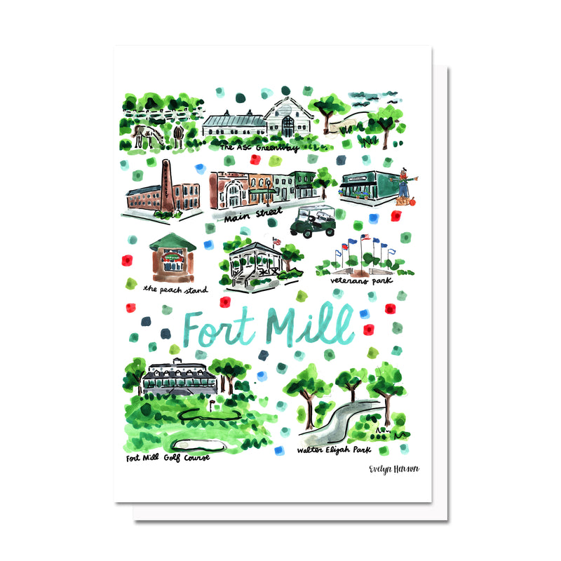 Fort Mill, SC Map Card