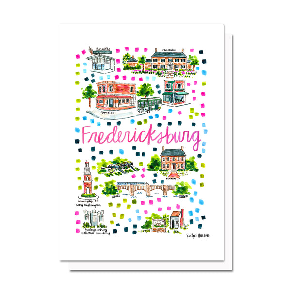 Fredericksburg, VA Map Card