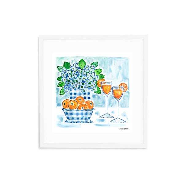 Mimosas with a Splash of Gingham, Fine Art Print