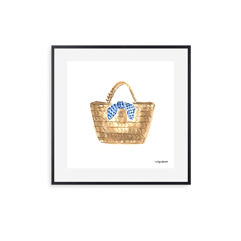 In the Gingham Bag, Fine Art Print