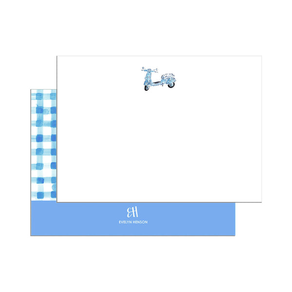 Gingham Vespa Notecard Set