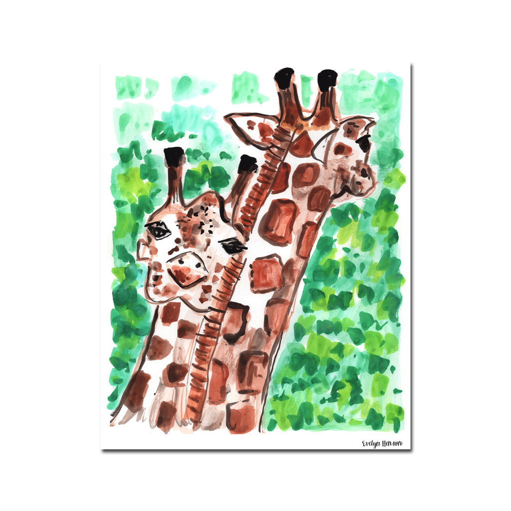 "The ""Giraffing Crazy Life"" Print"