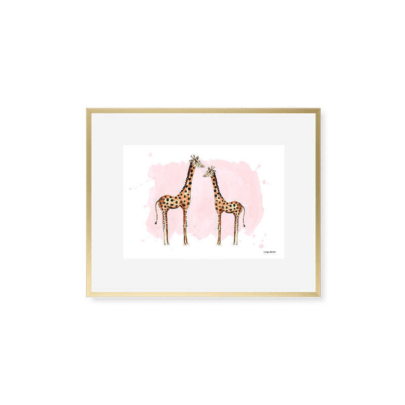 The Giraffes, Fine Art Print (Additional Colors Available)