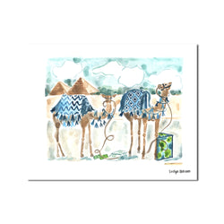 "The ""Giza Camels"" Fine Art Print"