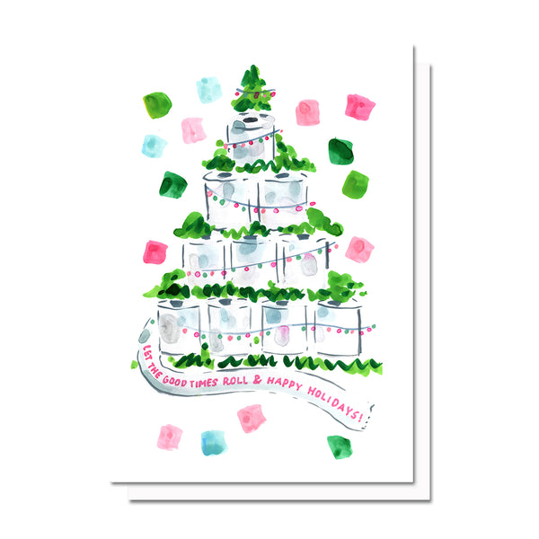 Toilet Paper Holiday Tree Card