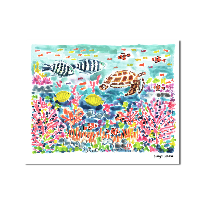 "The ""Great Barrier Reef Dive"" Fine Art Print"