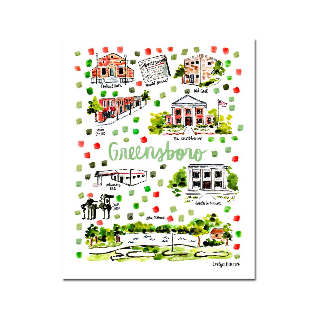 """Greensboro, GA"" Fine Art Print"