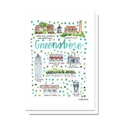 Greensboro, NC Map Card