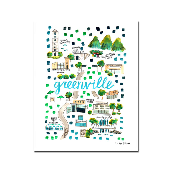 """Greenville, SC"" Fine Art Print"