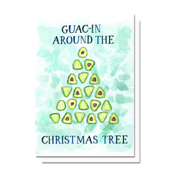 Guac-in Around the Christmas Tree Card
