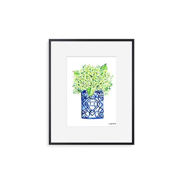 "The ""Happy Green Hydrangeas"" Fine Art Print"