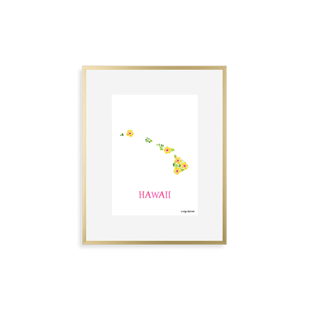 Hawaii Hibiscus Flower Print