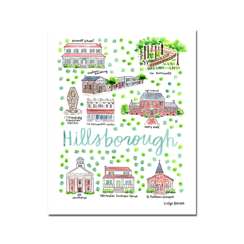 """Hillsborough, NC"" Fine Art Print"