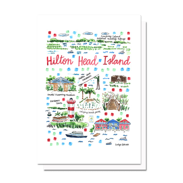Hilton Head Island, SC Map Card