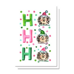 Holiday Hedgehogs Card
