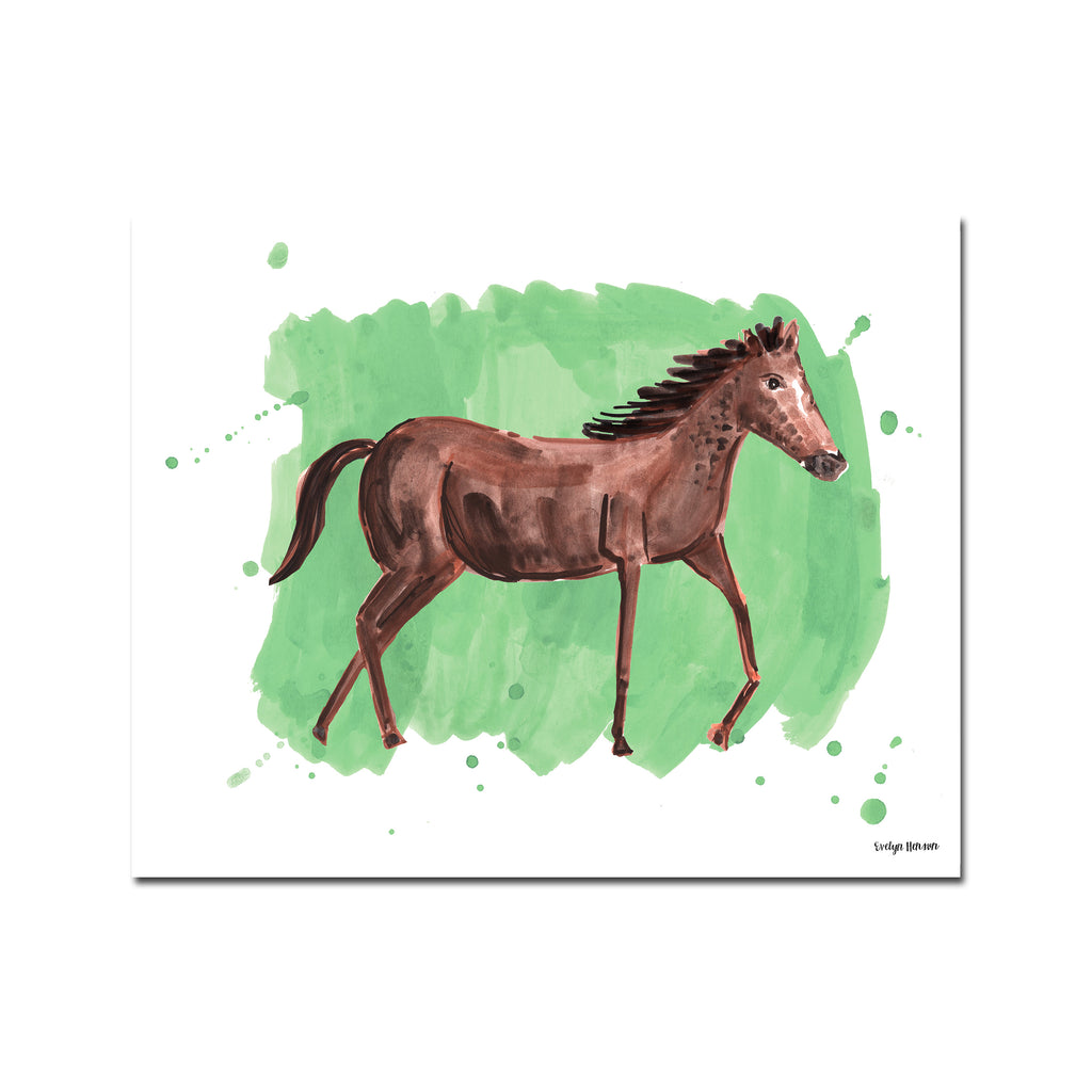 The Horse, Fine Art Print (Additional Colors Available)