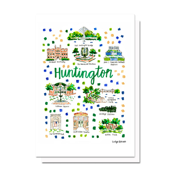 Huntington, WV Map Card
