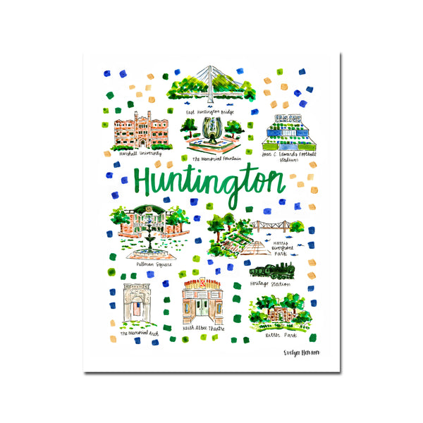 """Huntington, WV"" Fine Art Print"