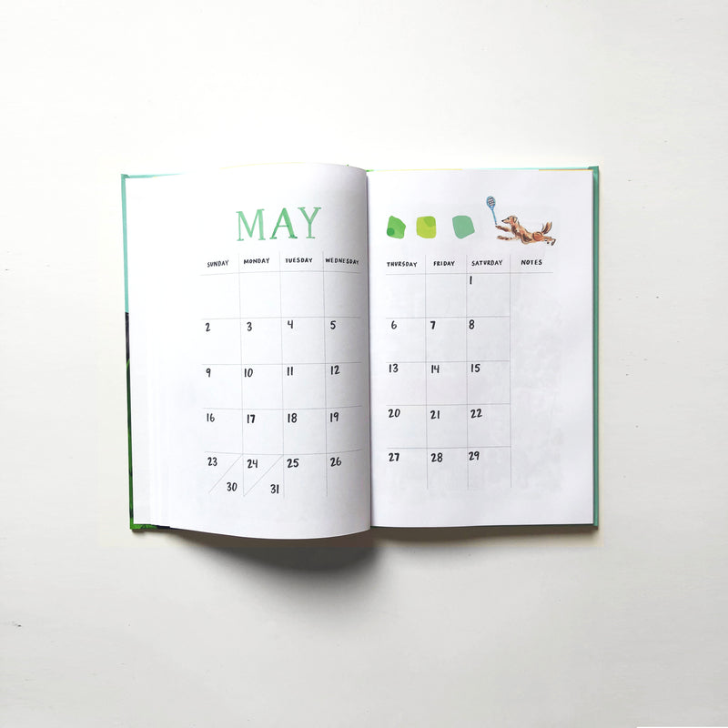 2021 Monthly Planner | Dog Print