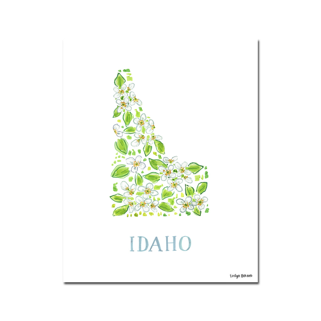 Idaho Mock Orange Flower Print