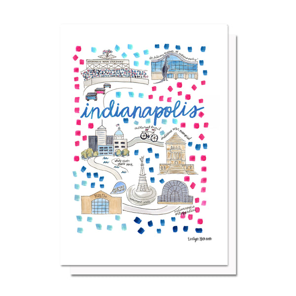 Indianapolis, IN Map Card