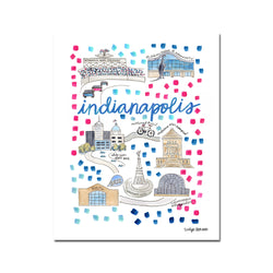 """Indianapolis, IN"" Fine Art Print"
