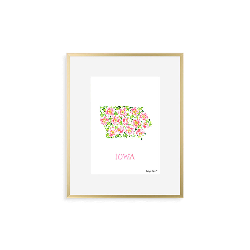 Iowa Wild Prairie Rose Flower Print
