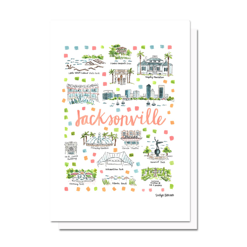 Jacksonville, FL Map Card