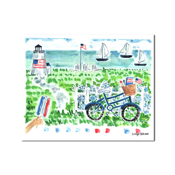 "The ""Red, White, and Ocean Blues"" Fine Art Print"