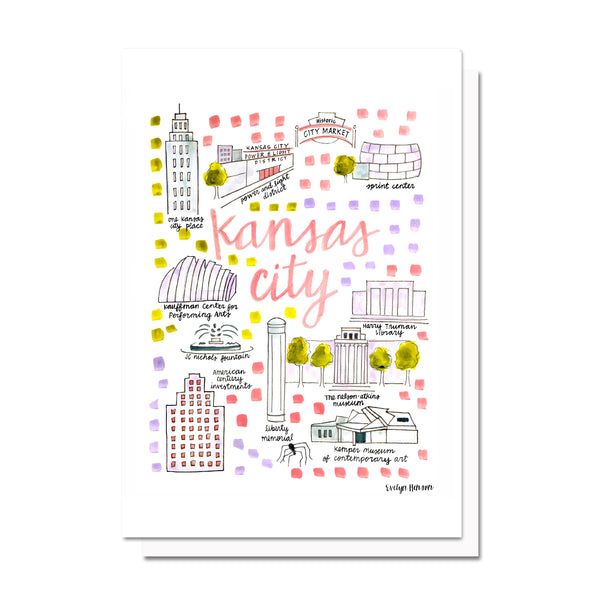Kansas City, MO Map Card