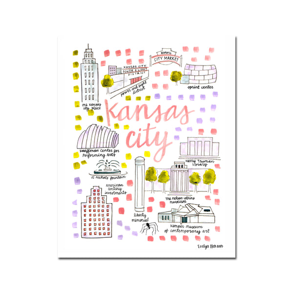 """Kansas City, MO"" Fine Art Print"