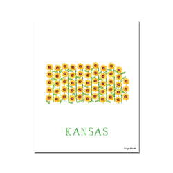 Kansas Sunflower Flower Print
