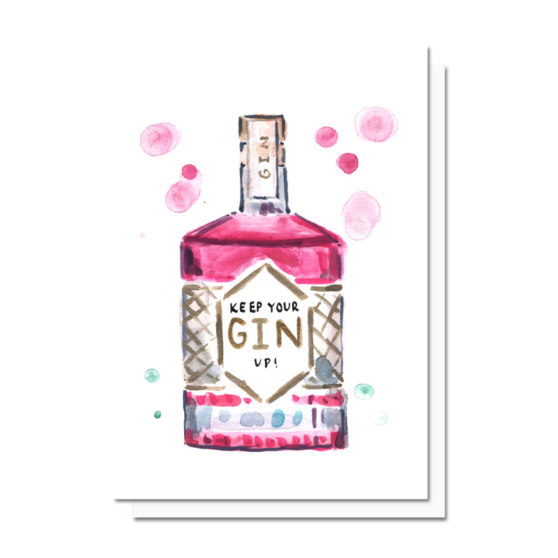 Keep Your Gin Up Card