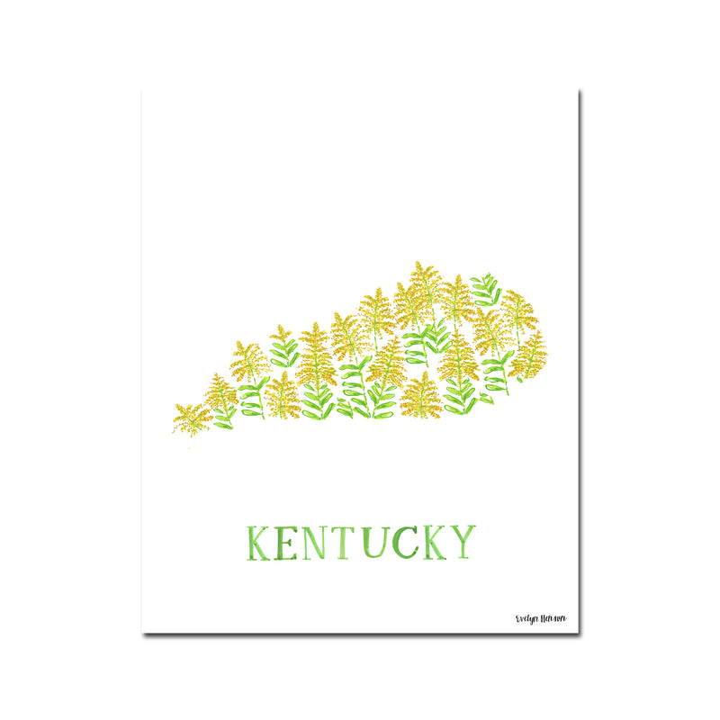 Kentucky Goldenrod Flower Print