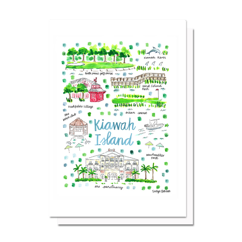Kiawah Island, SC Map Card