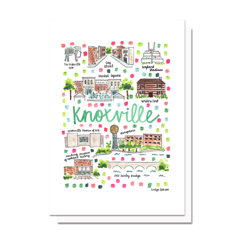 Knoxville, TN Map Card