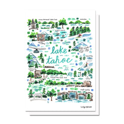 Lake Tahoe Map Card