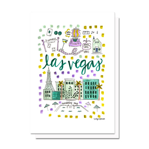 Las Vegas, NV Map Card