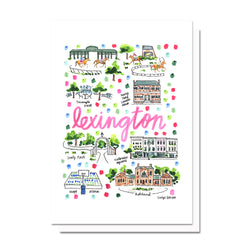 Lexington, KY Map Card