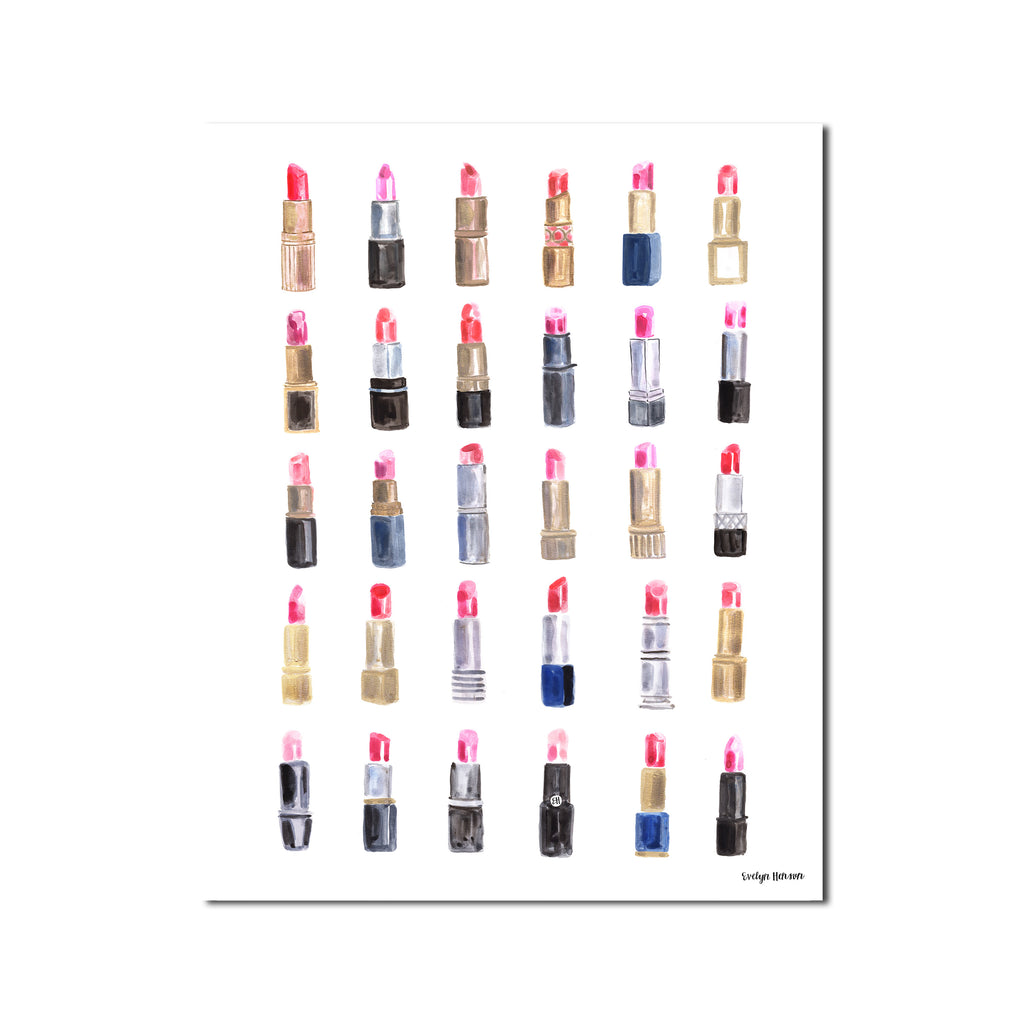 "The ""Kiss and Makeup"" Lipstick Print"