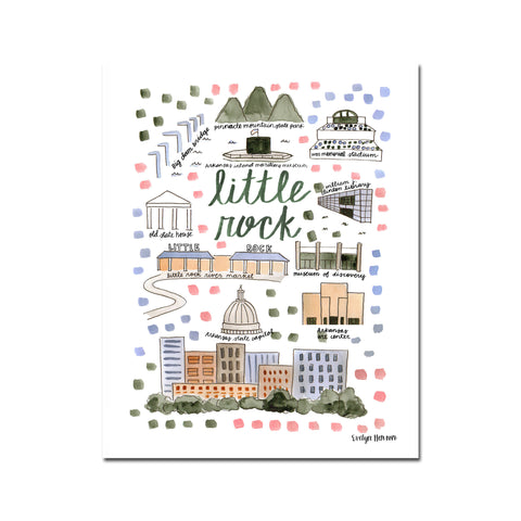 """Little Rock, AR"" Fine Art Print"