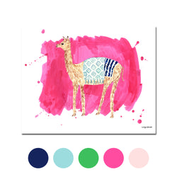 The Llama, Fine Art Print (Additional Colors Available)