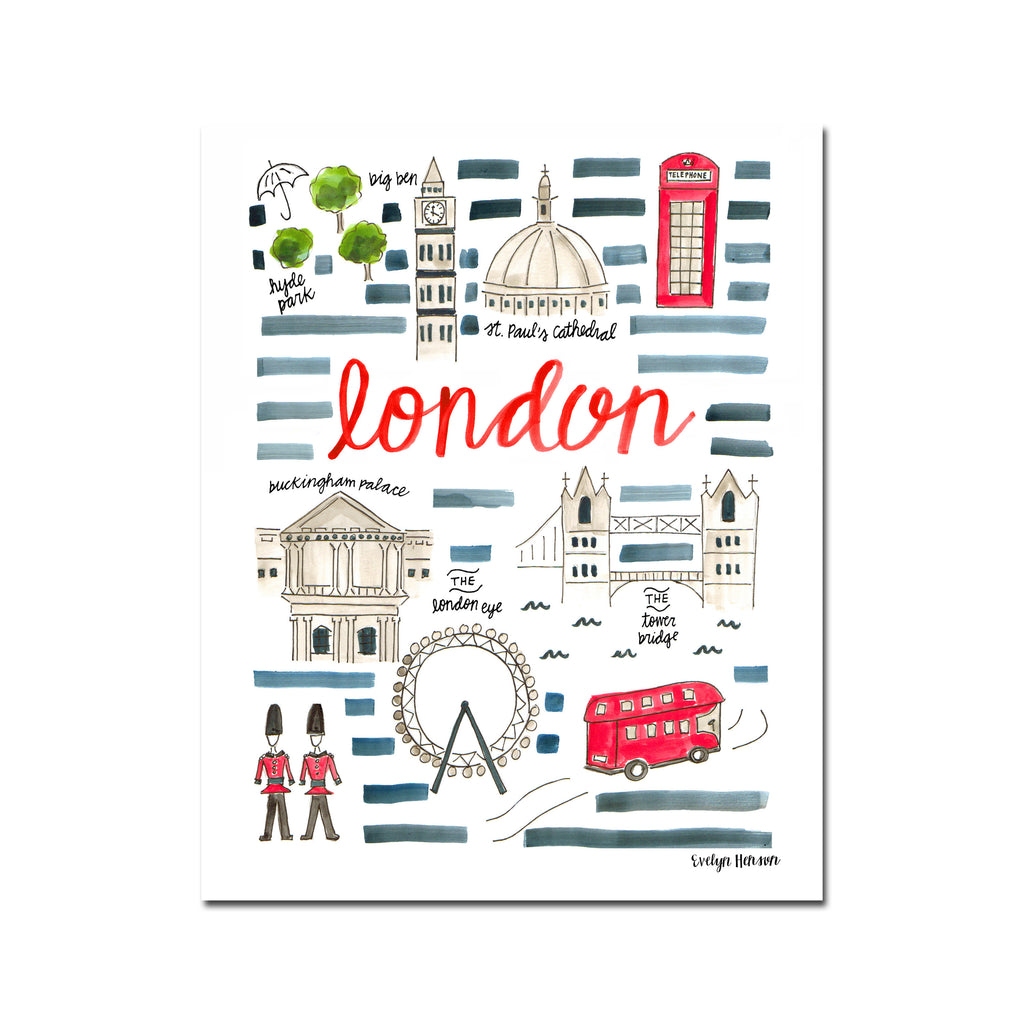 """London, England"" Fine Art Print"