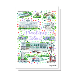 Mackinac Island, MI Map Card