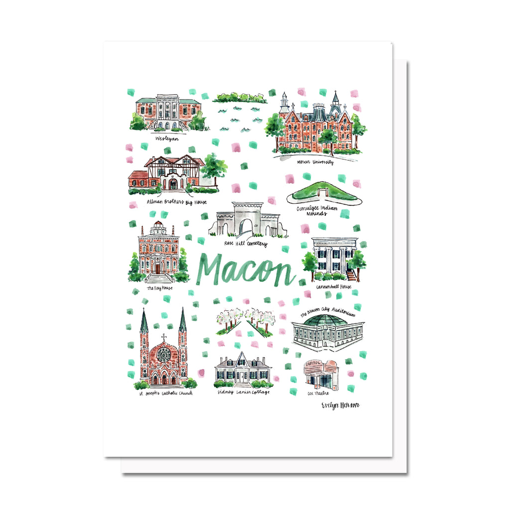 Macon, GA Map Card