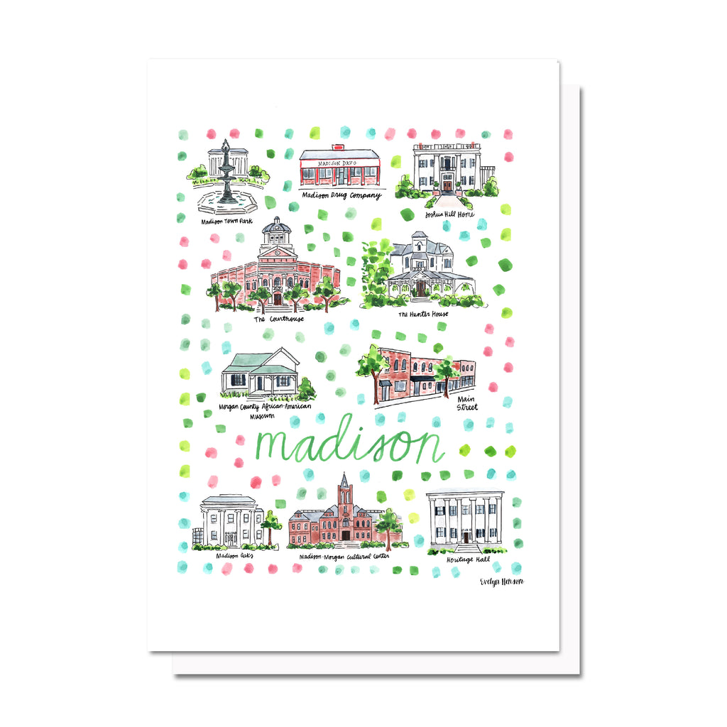 Madison, GA Map Card