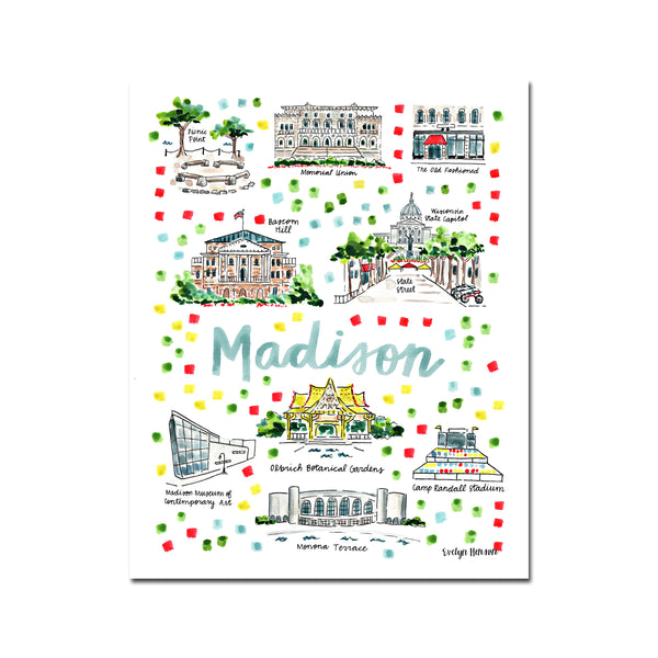 """Madison, WI"" Fine Art Print"