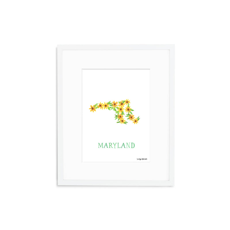 Maryland Black-eyed Susan Flower Print
